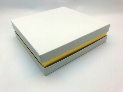 White and Gold Gift Box