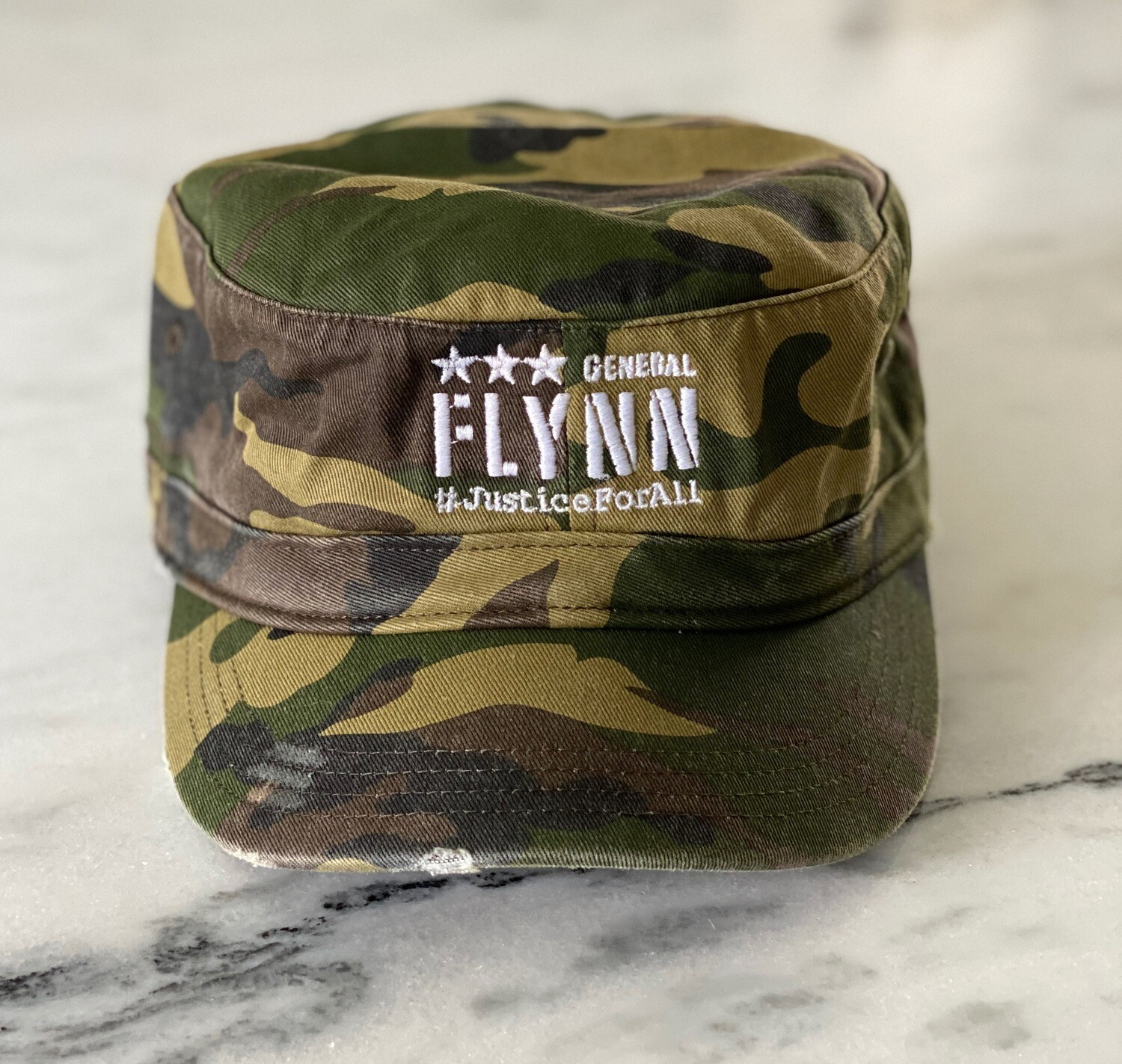 General Flynn Distressed Military Hat