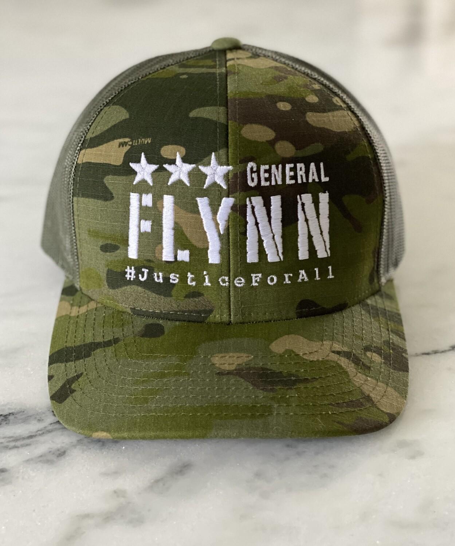 General Flynn Snapback Trucker Hat - Camo ***PRE-ORDER NOW***