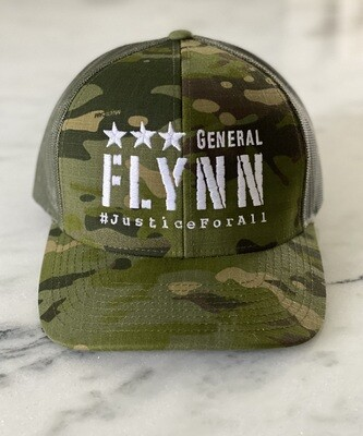 General Flynn Snapback Trucker Hat - Camo ***PRE-ORDER NOW***
