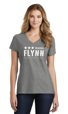 General Flynn Ladies V-Neck T-shirt
