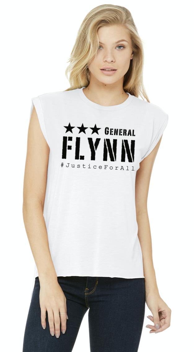 General Flynn Ladies Rolled Cuff Tee SALE