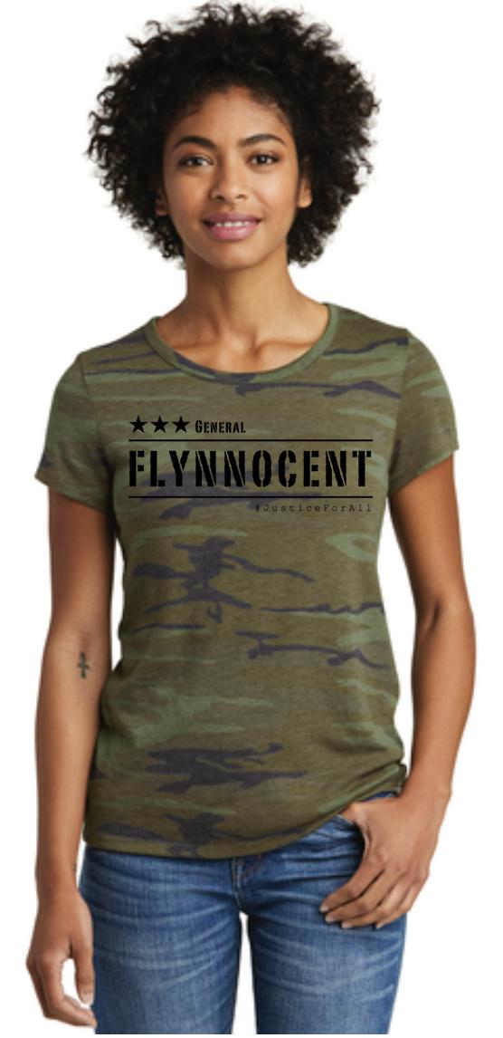NEW! Flynnocent Ladies Camo Tee