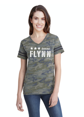 General Flynn Ladies Football T-Shirt