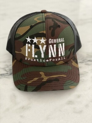 General Flynn Snapback Trucker Hat - Camo/Black