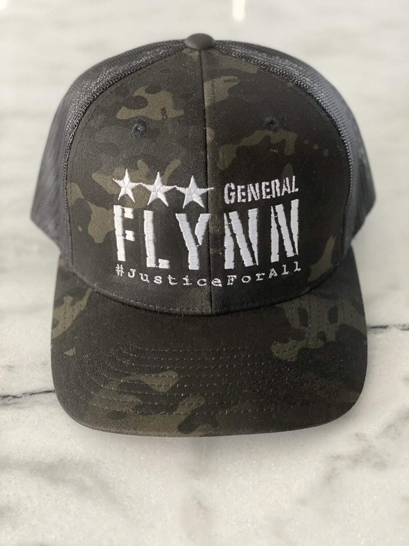 General Flynn Snapback Trucker Hat - Black Camo