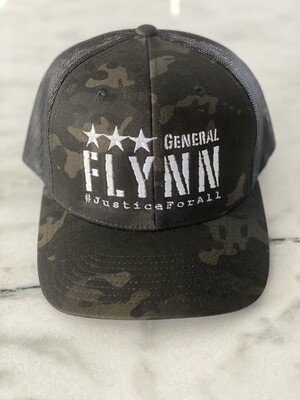 General Flynn Snapback Trucker Hat - Black Camo