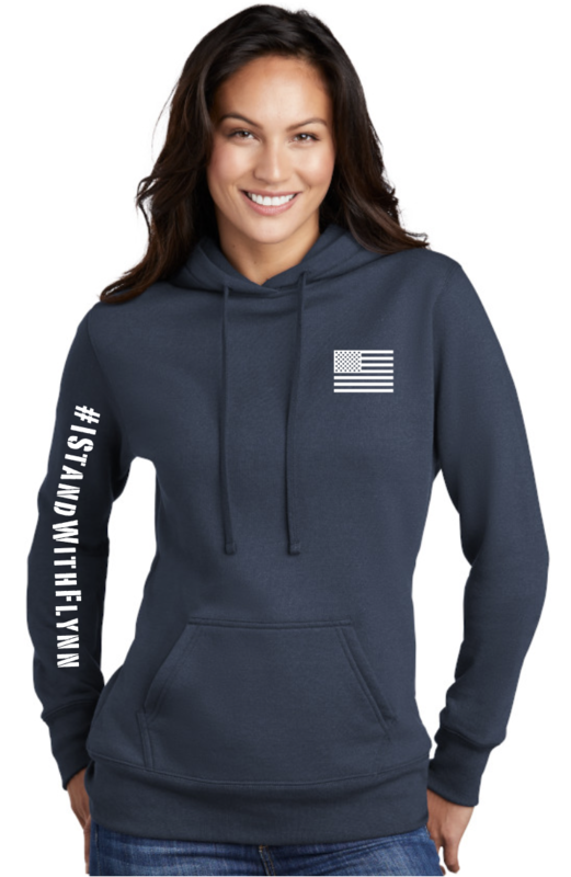 I Stand With Flynn Ladies Hooded Sweatshirt