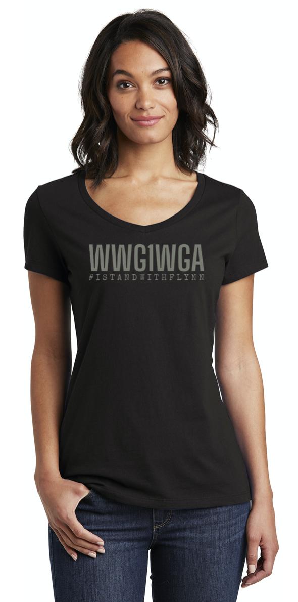 WWG1WGA Ladies V-Neck - Limited Edition