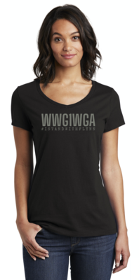 WWG1WGA Ladies V-Neck - Limited Edition