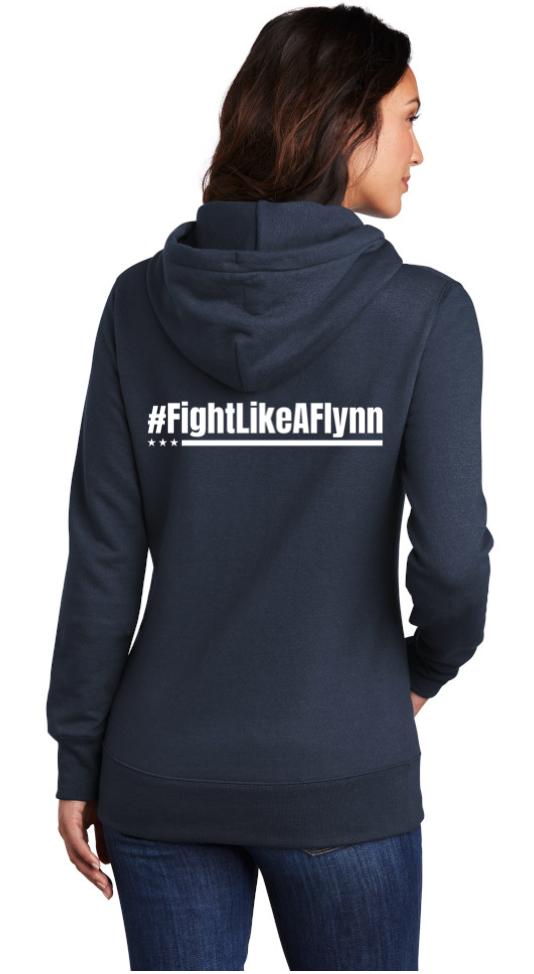 #FightLikeAFlynn Ladies Hooded Sweatshirt