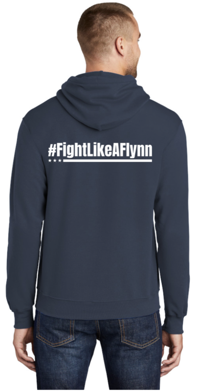 #FightLikeAFlynn Mens Hooded Sweatshirt