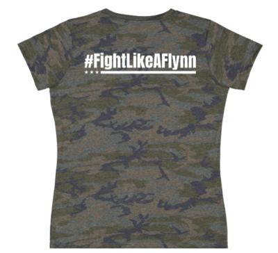 #FightLikeAFlynn Ladies Camo Tee