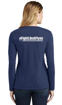 #FightLikeAFlynn Ladies Long Sleeve Tee