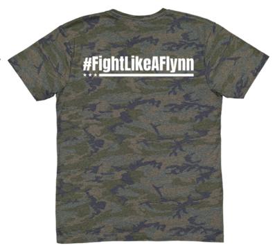 #FightLikeAFlynn Mens Camo Tee