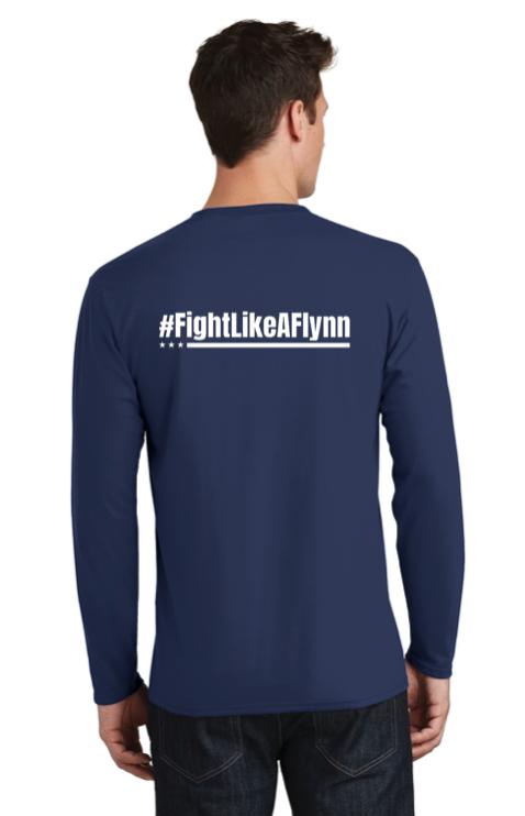 #FightLikeAFlynn Mens Long Sleeve Tee