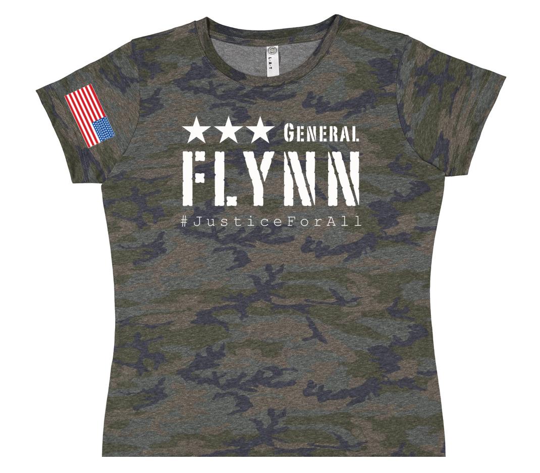 General Flynn Ladies Camo Tee