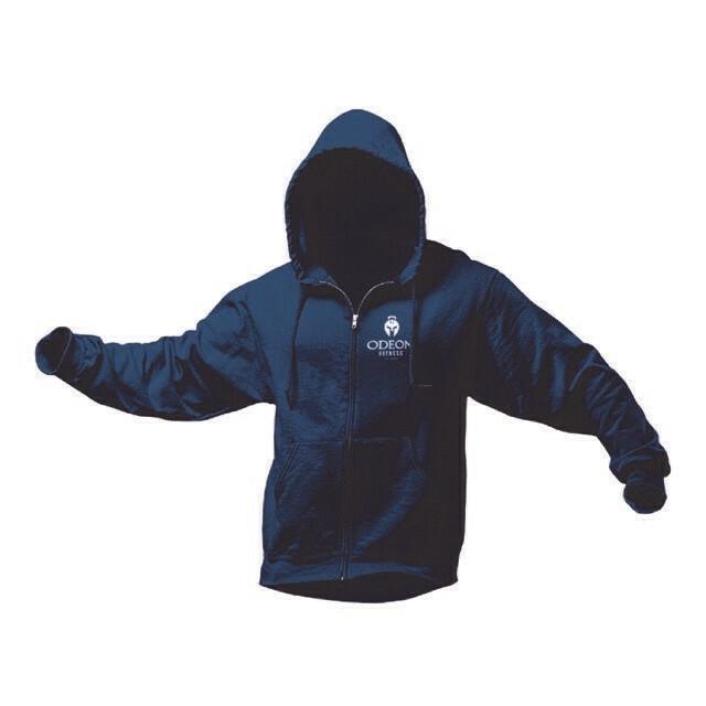 Adult Hooded Sweatshirt, Full Zip with Logo