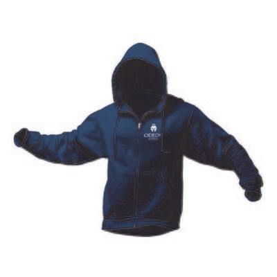 Adult Hooded Sweatshirt, Full Zip with Logo