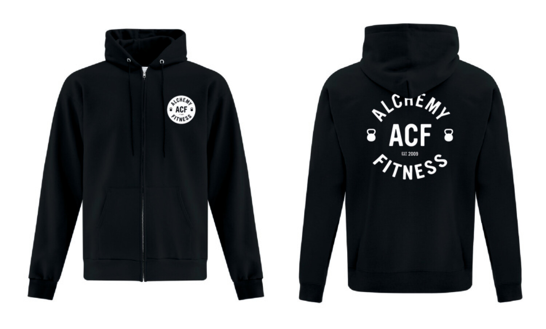 Hoodie - Full Zip - Alchemy Fitness Logo