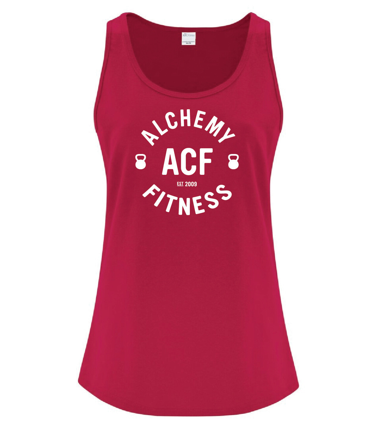 Ladies Racerback Tank Top - Alchemy Fitness Logo