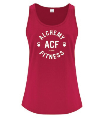 Ladies Racerback Tank Top - Alchemy Fitness Logo