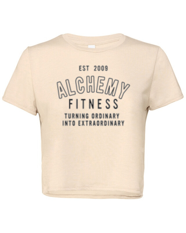 Ladies Flowy Cropped T-Shirt  - Turning Ordinary into Extraordinary