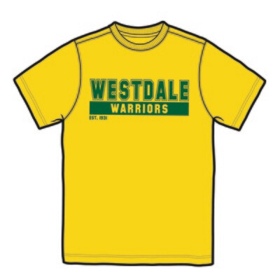 Westdale Warriors Short Sleeve T-Shirt - Silk Screened Logo