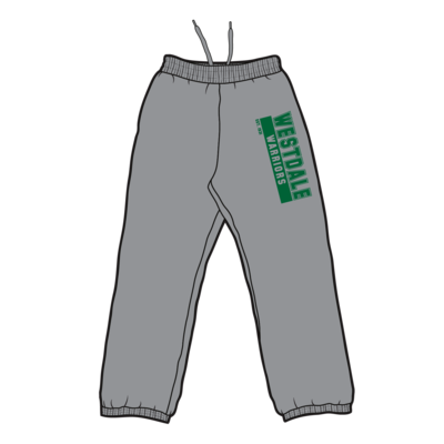 Westdale Warriors Sweatpants - Silk Screened Logo