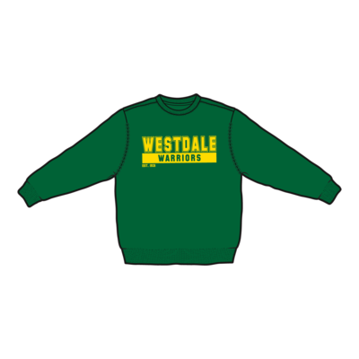 Westdale Warriors Crew Neck Sweatshirt - Silk Screened Logo