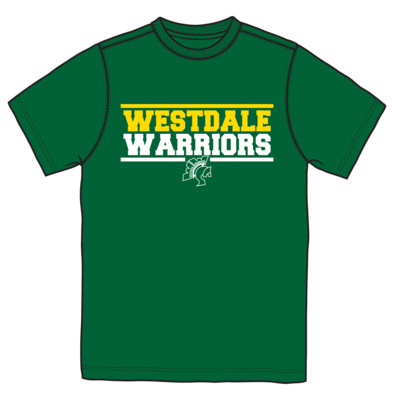 Westdale Warriors Short Sleeve Moisture Wicking T-Shirt - 2 Colour Logo