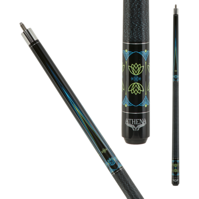 Athena Blue & Lime Green Accents - ATH50 Pool Cue