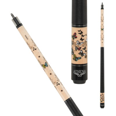 Athena - Butterfly and Vine - ATH45 Pool Cue