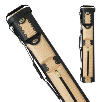 Elite - ECL37 - Desert 3x7 Leather Hard Cue Case