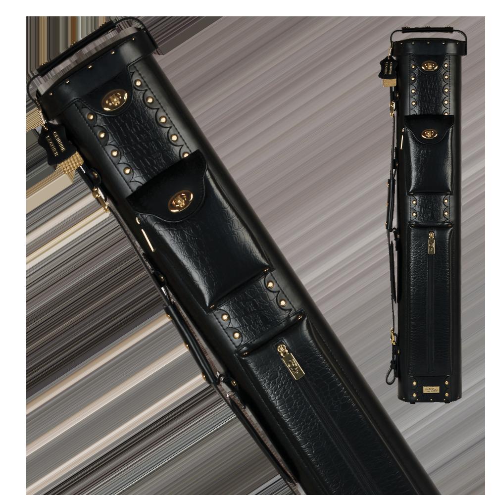Elite - ECL37 - Black 3x7 Leather Hard Cue Case