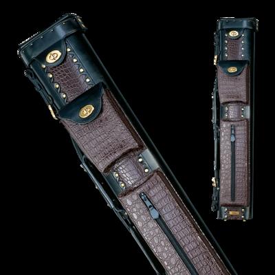 Elite - ECL37 - Burgundy 3x7 Leather Hard Cue Case