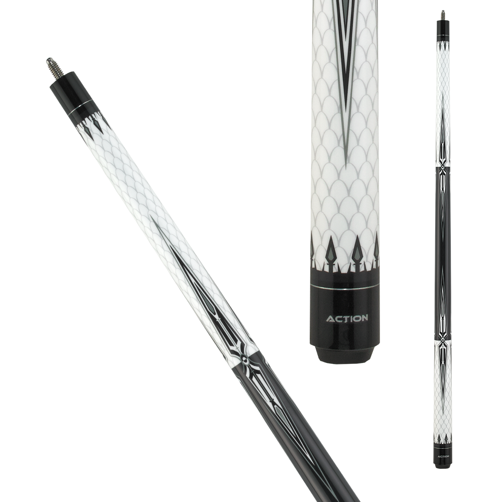 Action BW17 Black and White Pool Cue