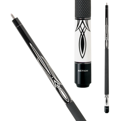 Action BW01 Black and White Pool Cue