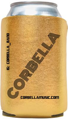Gold Corbella Koozie