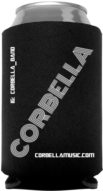 Black Corbella Koozie
