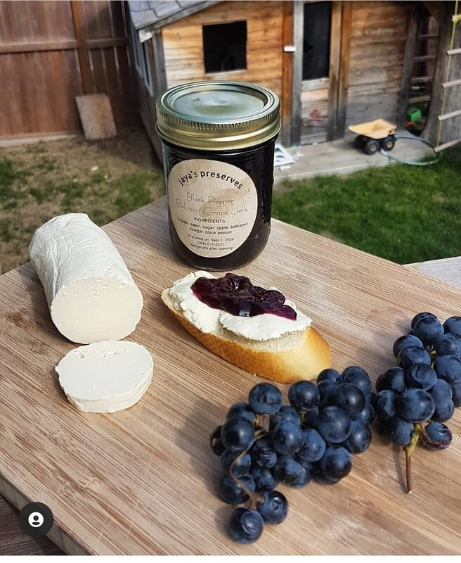 Chevre with Red Wine reduction