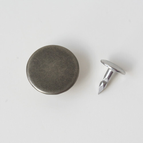 Jeans Button, Antique Nickel