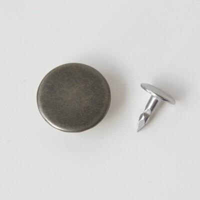 Jeans Button, Antique Nickel