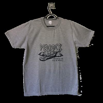 Camiseta Pedrock - Cinza Claro