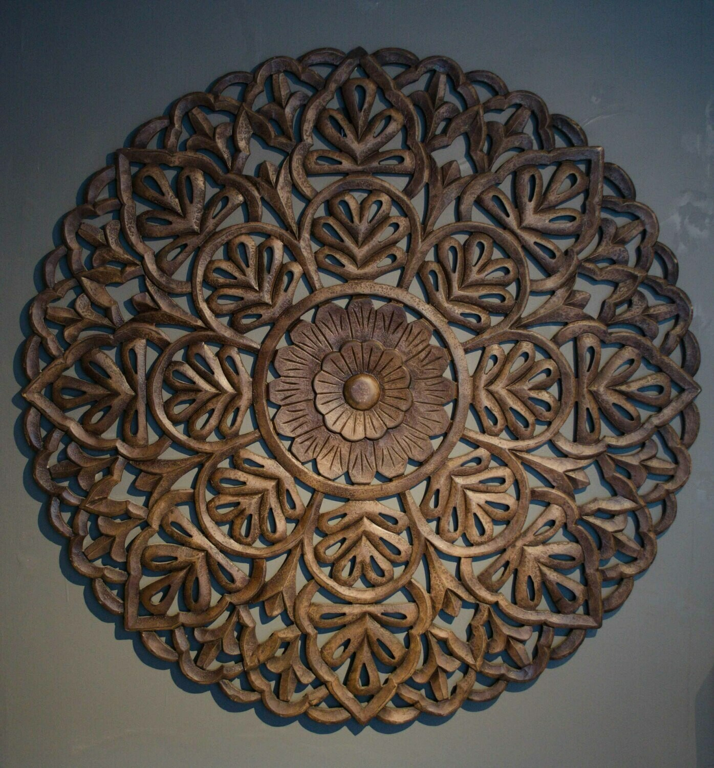 Handcarved Large Wooden Wall Art