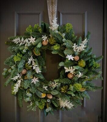 The White Christmas Wreath