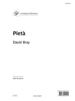 BRAY Pietà / pour alto & piano / for viola & piano