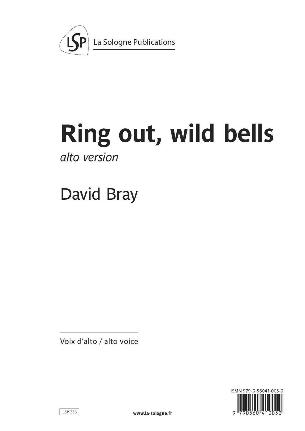 BRAY Ring out, wild bells / alto voice