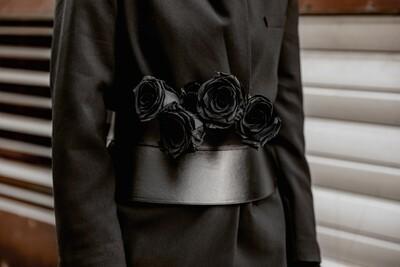Кожаная баска Black