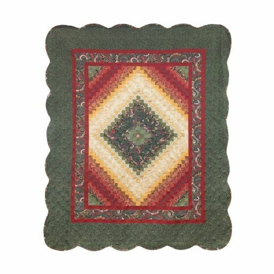 Spice Trip Postage Stamp Throw